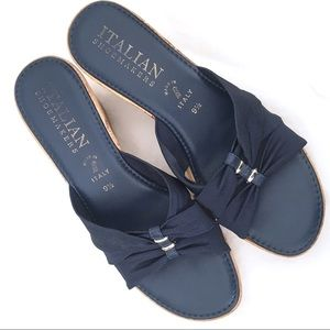 NWOT ITALIAN SHOEMAKERS Blue Slide Sandal Size 9.5